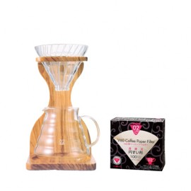 Pack Hario V60 6 tasses avec support