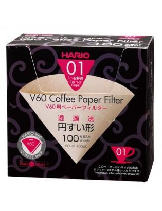 Hario V60 filtre 2 tasses 100 pces