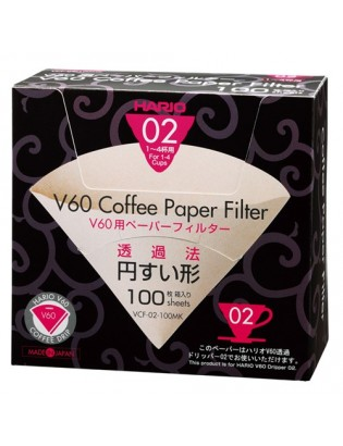 Hario V60 filtre 6 tasses 40 pces